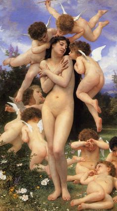 "malinconie: William-Adolphe Bouguereau, The Return. - malinconie: ""William-Adolphe Bouguereau, The Return of Spring, 1886 "" William Adolphe Bouguereau, Mona Lisa, Vintage Illustration, Munier, The Birth Of Venus, Pierre Auguste Renoir, Pre Raphaelite, Oil Painting Reproductions, Classical Art"