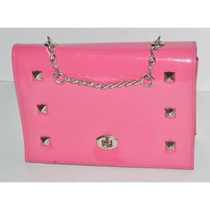 Vintage Pink Studded High Gloss Vinyl Purse