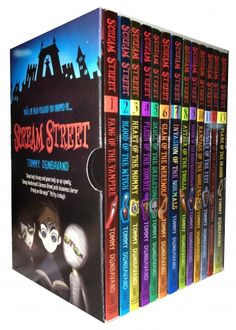 Scream Street Collections are set of horror stories. The mysteries in all the 13 books sets are definitely going to chill your bones. The series includes: Fang of The Vampire, Blood of The Witch, Heart of The Mommy, Flesh of The Zombie, Skull of The Skeleton, Claw of The Werewolf, Invasion of the Normals, Attack of the Trolls, Terror of the Nightwatchman, Rampage of the Goblins, Hunger Of The Yeti, Hunger Of The Yeti, Flame Of The Dragon.