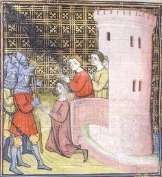 Manuscript BL Royal 20 C VII Chroniques de France ou de St Denis Folio 138v Dating 1380-1400 From Paris, Francja Holding Institution British Library