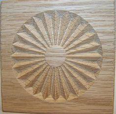 Carved Wood Rosette Corner Block Oak or Pine Custom Sizes Available Sunburst | eBay