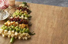 Plateau de fromages en sapin de Noël