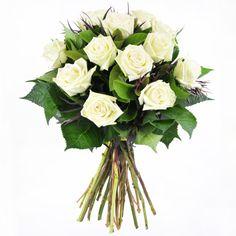 Bouquet of 12 Green Tea Roses