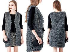 Itamia #sheepa #sweater #vest - Charcoal