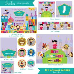 Customized It's a Small World Birthday Invitation and by Chesilou