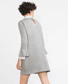 Image 4 of PLUSH FRILL DRESS from Zara