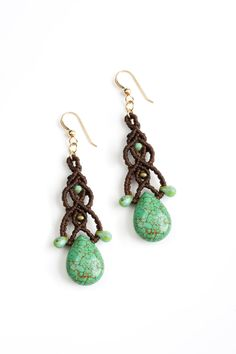 Turquoise Goddess earrings  * photo by michael topyol