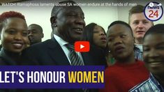 """President Cyril Ramaphosa lamented the """"shame"""" of South African men when he addressed the Young Women Dialogue at the Johannesburg City Hall on Tuesday."""