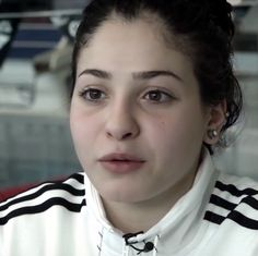 Syrian swimmer Yusra Mardini, currently refugee in Greece, member of Olympic Refugees Team