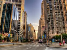 Magnificent Mile, Chicago.   If you love to shop, this is the place to go!