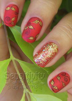 nail art Or en folie