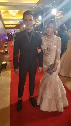 Erik Santos and Angeline Quinto attend the ball together #StarMagicBall2015 #9thstarmagicball