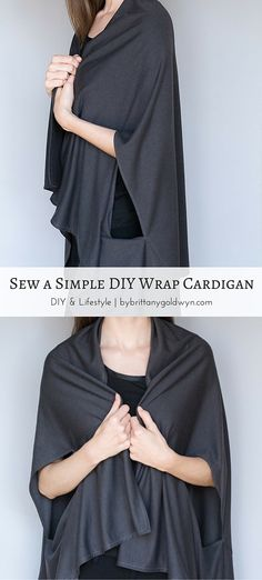 Making this simple wrap cardigan is easy even if you only have limited sewing skills. Learn how to make one for yourself or as a gift today.