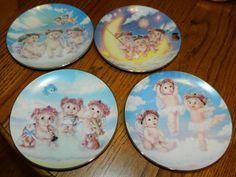 4 Vintage Dreamsicle Collectible Plates1990'sThe by ZiggyzAttic