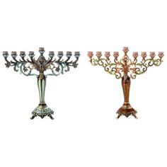 Jeweled and Enamel Hanukkah Menorah - BedBathandBeyond.com