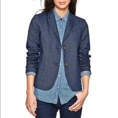 Denim Blazer Brand new! Never worn. Super stylish and cute with anything! GAP Jackets & Coats Blazers