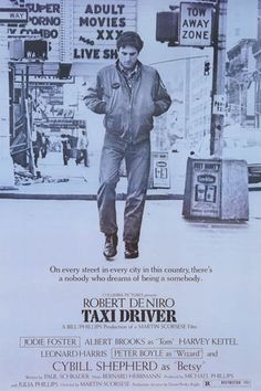 Taxi Driver Nobody Somebody Quote DeNiro Film Poster 24x36 – BananaRoad