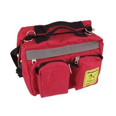 Como Camping Quick Release Buckle Zipped Dog Pet Saddle Bag Backpack Red