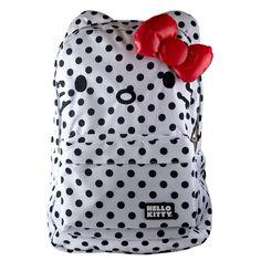 Polka Dot Backpack Black by Hello Kitty