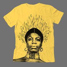"""T-Shirt graphic in honor of Ms.Nina Simone. """"Misunderstood"""""""