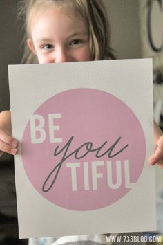 BeYOUtiful Wall Art - Free Printable - Sugar Bee Crafts