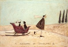 Art at Taylor Made gallery - A Sleigh full of Jinglers by Sam Toft