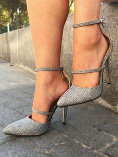 Fashion Pointed Toe Ankle Strap Stiletto Heels #stilettoheelsboots
