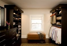 large closet must have a place to sit - dont forget, even if its a small bench or stool