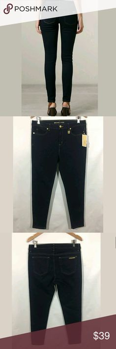 Michael Kors Jeans Women's Size 8 Skinny Stretch Michael Kors Jeans Women's Size 8 Skinny Stretch Cotton Dark Blue NWT  New with tags.   Medium measurements: 32 inch waist.  36 inch hips.  9 inch rise.  27 inch inseam.     LB MICHAEL Michael Kors Jeans Skinny