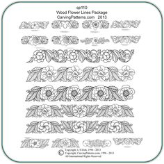 Exclusive Designs by Lora S. Irish 16 Line Art Patterns