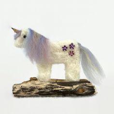 Unicorn decoration, needle felted £6.00 Handmade Decorative Items, Handmade Crafts, Mane N Tail, Acrylic Flowers, Little Unicorn, Needle Felting, Dinosaur Stuffed Animal, September, Teddy Bear