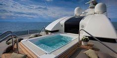 mega luxury yacht plunge pool