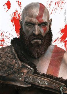 War Tattoo, Inca Tattoo, Tao, Gow 4, God Of War Game, Kratos God Of War, Art Web, Fantasy Male, Geek Art