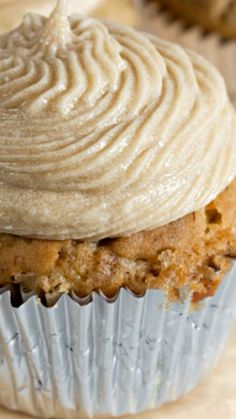 Dairy Free Banana Cupcakes with Brown Sugar Buttercream ~ These tender banana cupcakes are made with coconut oil and cashew milk, so they're completely dairy free. Top them with swirls of brown sugar buttercream for a crave-worthy treat!