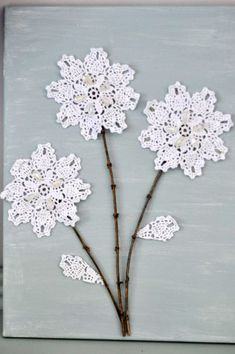 DIY Canvas Wall Art: Shabby Chic Flowers - Crafts Unleashed - The Effective Pictures We Offer You About diy cr - Abstract Canvas Wall Art, Diy Canvas Art, Canvas Crafts, Diy Wall Art, Wall Canvas, Shabby Chic Art, Shabby Chic Flowers, Diy Flowers, Art And Craft Design