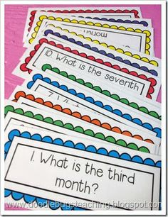 Calendar Questions - good way to use the calendar math board in math stations