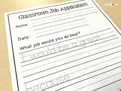 Classroom jobs give every student their niche and offer a great and specific way to praise students. Plus, they keep the classroom running smoothly! Click through for a FREE classroom job application.