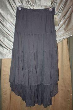 Woman's Plus Size Gray Crinkle Skirt Elastic Waist Lined SOLITAIRE Ravi Khosla | eBay
