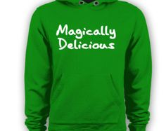 MAGICALLY Delicious - funny humorous irish st. patrick's day paddy's clover drinking lucky party new tee shirt - Mens Green HOODIE DT0409❤️