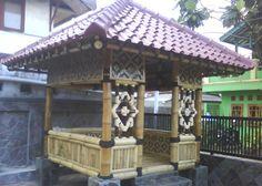Desain gazebo dari bahan bambu