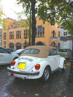 At Janskerkhof Utrecht; Volkswagen, Vw Cabrio, Beetle Convertible, Vw Beetles, Utrecht, It Is Finished, Cars, Classic, Beetle Car