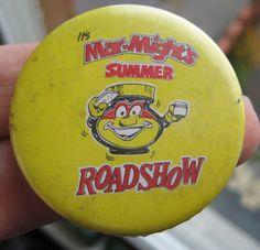 MARMITE vintage 1980-90s era MAR-MIGHT'S summer roadshow advertising pin BADGE | eBay