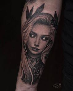 Tattoo Sasha Sorsa - tattoo's photo In the style Whip Shading, Male, Gir Boy Tattoos, Line Tattoos, Body Art Tattoos, Sleeve Tattoos, Face Tattoos For Women, Devil Tattoo, Girl Face Drawing, Tattoo Master, Watch Tattoos