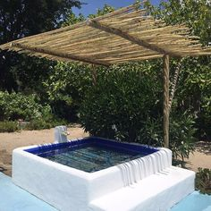 342 Likes, 4 Comments - Interiors Small Backyard Pools, Small Pools, Backyard Landscaping, Outside Living, Outdoor Living, Mini Piscina, Riad Marrakech, Mini Pool, Natural Swimming Pools