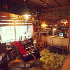 uuung2o22さんの、和室,ハンドメイド,DIY,押入れ喫茶,雑貨,6畳カッフェ,和室改造計画,和室を改造,日本家屋,6畳和室,押入れDIY,押入れリメイク,カリモク,カリモク家具,椅子,ロッキングチェア,ディズニーコラボ,部屋全体,のお部屋写真