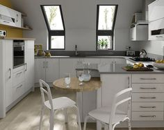A modern high gloss kitchen design idea in Porter white. Revamp your kitchen and enjoy kitchen life more:-)