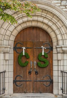 Moss Initial Church Door Decorations |  IMAGECLAIRITY PHOTO AND CINEMA | BELLI…