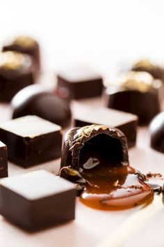 Three Bonbon Filling Recipes- These are three outstanding fillings that you can use for bonbons: Earl Grey, passion fruit caramel, and vanilla dark chocolate ganache. #chocolate