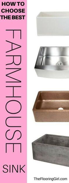 How to choose a farmhouse sink.  #farmhouse #sink #farmhousestyle #kitchen #kitchensink