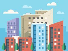 Leeds City Skyline by Scott Tusk #Design Popular #Dribbble #shots